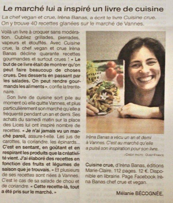 Livre cuisine vivante Mme Green