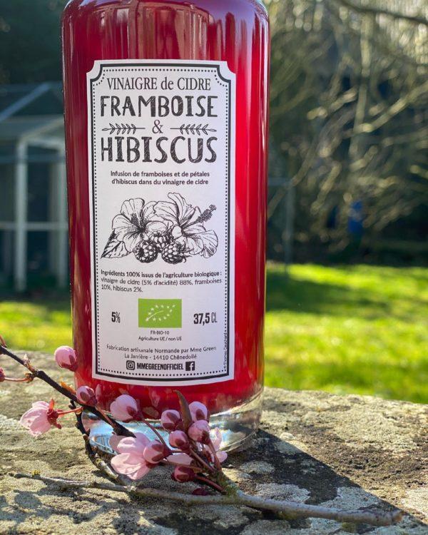 vinaigre de cidre framboise hibiscus mme green